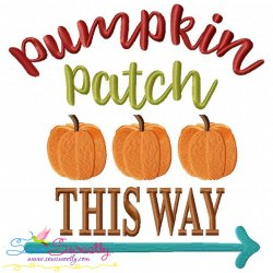 Pumpkin Patch Lettering Embroidery Design