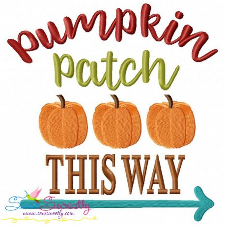 Pumpkin Patch Lettering Embroidery Design Pattern- Category- Fall And Thanksgiving- 1