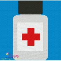 Medicine Bottle Embroidery Design