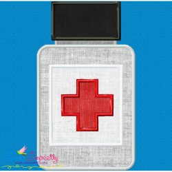 Medicine Bottle Applique Design