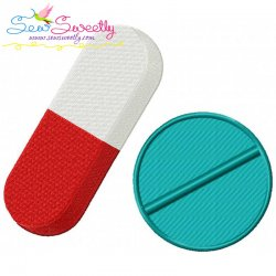 Medical Pills Embroidery Design