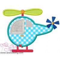 Helicopter-1 Applique Design