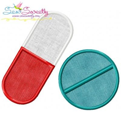 Medical Pills Applique Design