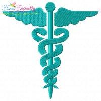Medical Symbol Embroidery Design