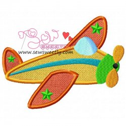 Retro Plane Applique Design