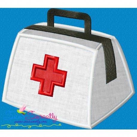 Doctor's Bag Applique Design Pattern- Category- Medical And Nursing Designs- 1