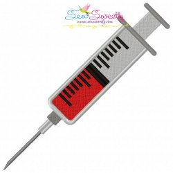 Syringe Embroidery Design