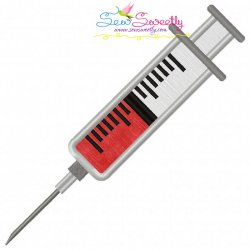 Syringe Applique Design