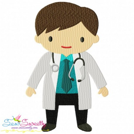 Little Boy Doctor Embroidery Design