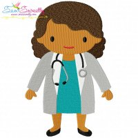 Free Little Girl Doctor Embroidery Design
