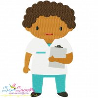 Little Boy Nurse Embroidery Design