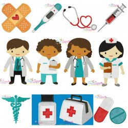 Little Doctors Embroidery Design Bundle