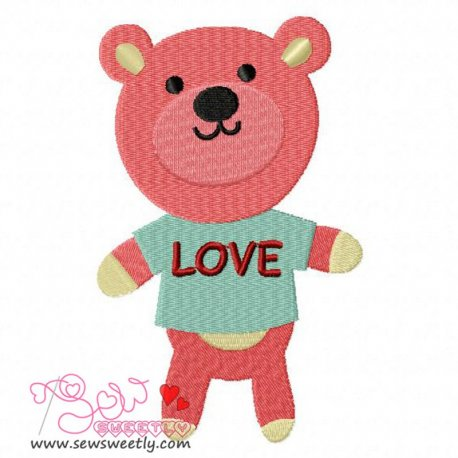 Love Bear-1 Embroidery Design