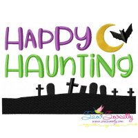 Happy Haunting Lettering Embroidery Design