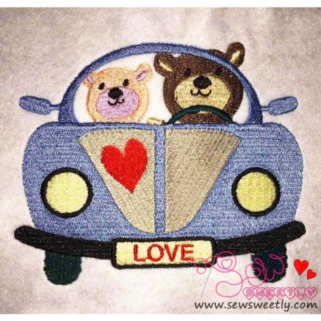Love Bears-3 Embroidery Design