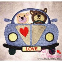 Love Bears-3 Embroidery Design