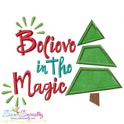 Believe in the Magic Lettering Applique Design