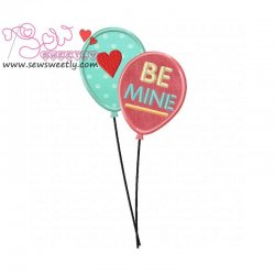 Love Balloons Applique Design