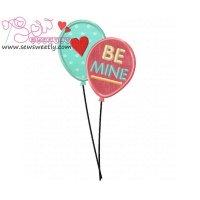 Love Balloons Applique Design