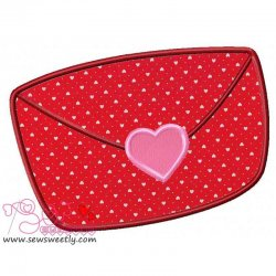 Love Letter Applique Design