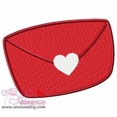 Love Letter Embroidery Design Pattern- Category- Valentine's Day Designs- 1