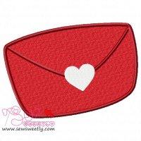 Love Letter Embroidery Design