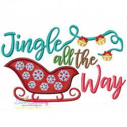 Jingle all the Way Lettering Applique Design