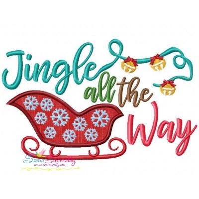 Jingle all the Way Lettering Applique Design