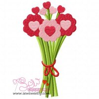 Valentine Bouquet Embroidery Design