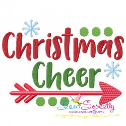 Christmas Cheer Lettering Embroidery Design