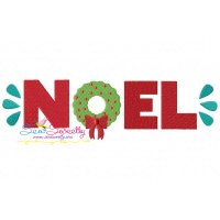 Noel Lettering Embroidery Design