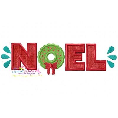Noel Lettering Applique Design