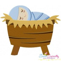 Baby Jesus Embroidery Design