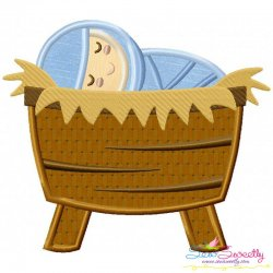 Baby Jesus Applique Design