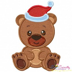 Christmas Baby Animal- Bear Applique Design