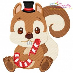 Christmas Baby Animal- Squirrel Embroidery Design