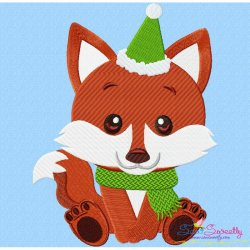 Christmas Baby Animal- Fox Embroidery Design
