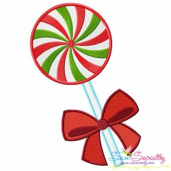 Swirl Lollipop Ribbon Embroidery Design