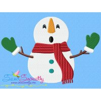 Christmas Snowman Gloves Embroidery Design