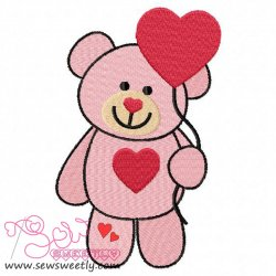 Valentine Teddy Bear 5 Embroidery Design
