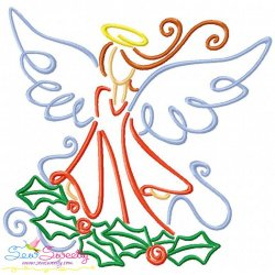 Christmas Swirls- Angel Embroidery Design