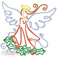 Christmas Swirls- Angel Embroidery Design