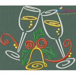 Christmas Swirls- Drinks Embroidery Design