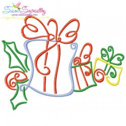 Christmas Swirls- Gifts Embroidery Design