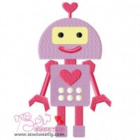 Lovely Robot-2 Embroidery Design