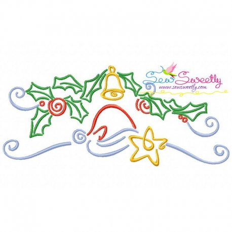Christmas Swirls- Santa Hat Embroidery Design