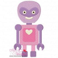 Lovely Robot-4 Embroidery Design
