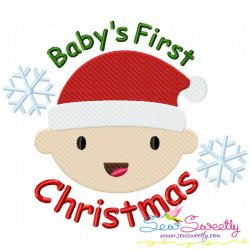 Baby's First Christmas Embroidery Design