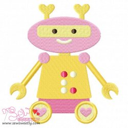 Lovely Robot-5 Embroidery Design