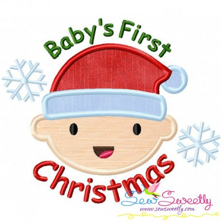 Baby's First Christmas Applique Design Pattern- Category- Christmas Designs- 1